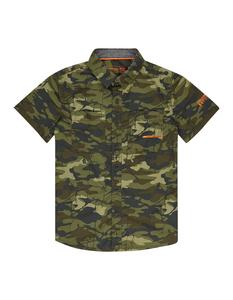 Jungen Freizeithemd mit Camouflage-Muster