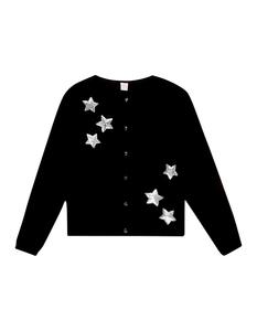 Mädchen Cardigan mit Sternen-Applikation