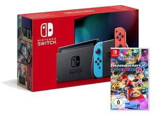 Nintendo Switch Neon-Rot/Neon-Blau + Mario Kart 8 Deluxe