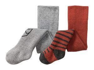 LUPILU® Baby Strumpfhose Jungen, 2 Stück, Komfortzwickel, mit Bio-Baumwolle