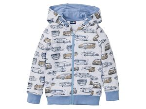 LUPILU® Sweatjacke oder -pullover Jungen, mit gefütterter Kapuze, Taschen, mit Baumwolle