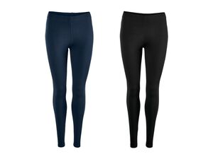 ESMARA® Leggings Damen, 2 Stück, optimale Passform, hoher Baumwollanteil