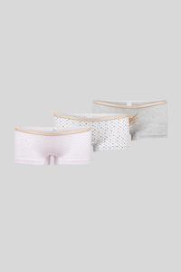 Boxershorts - Bio-Baumwolle - 3er Pack - Glanz Effekt