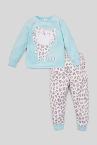 Fleece-Pyjama - 2 teilig