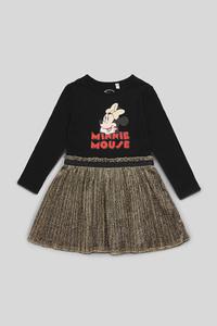 Minnie Maus - Kleid - Glanz Effekt