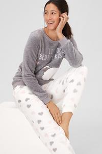 Set - Fleece-Pyjama und Schlafmaske - Snoopy
