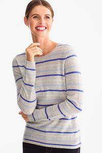 Kaschmir-Pullover - gestreift - Glanz Effekt