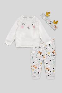 Baby-Weihnachts-Outfit - 3 teilig - Glanz Effekt