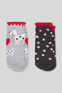Baby-Socken - 2 Paar - gepunktet