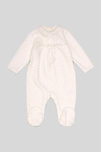 Baby-Schlafanzug - Bio-Baumwolle - gepunktet - Glanz Effekt