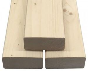 Rahmen Fichte/Tanne gehobelt/egalisiert ,  2440 x 89 x 38 mm, getrocknet, hobelfallend