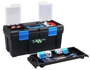 TrendLine Werkzeugkoffer MC Plus 20 ,  51 x 24 x 24 cm, schwarz-blau, Trageschale