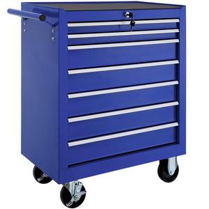 Werkzeugwagen mit 7 Schubladen blau