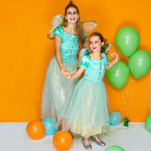 Kinder-Glitzerfee-Kostüm mit zauberhaften Flügeln