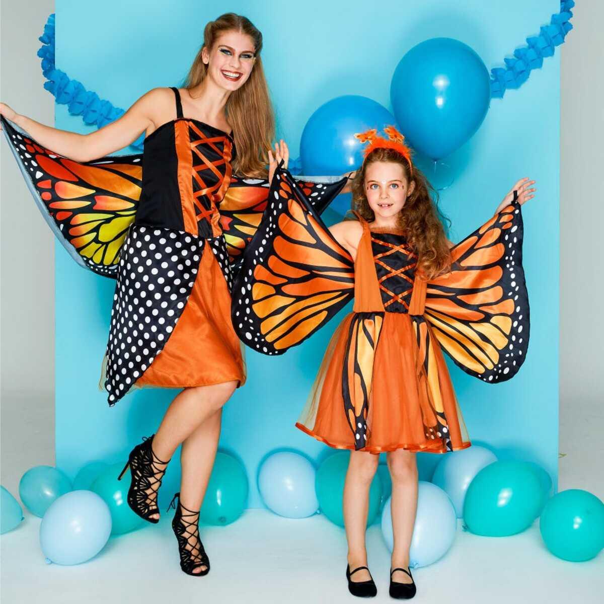 Bild 1 von Schmetterling- oder Pfau-Kostüm mit Flügeln für Erwachsene