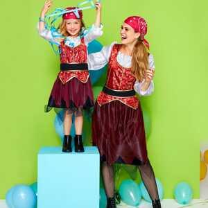 Damen-Piratenprinzessin-Kostüm mit Kopftuch und Gürtel