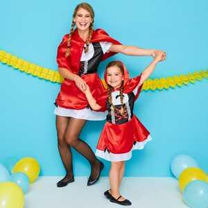 Kinder-Märchenprinzessin-Kostüm mit Umhang