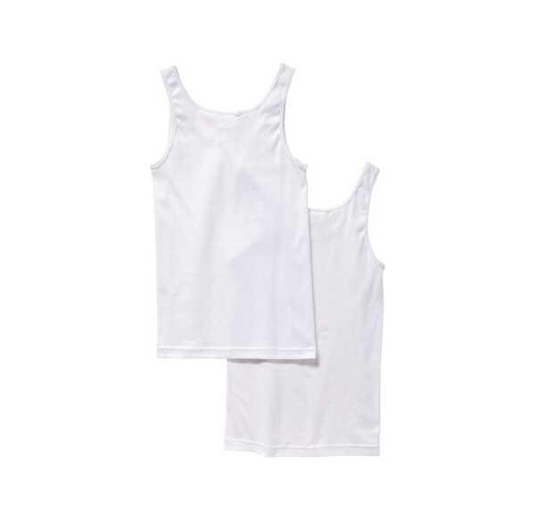 Damen-Achselhemd aus reiner Baumwolle, 2er Pack