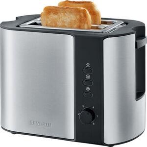 Severin Automatik-Toaster AT 2589, Edelstahl-gebürstet-schwarz