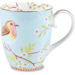 "Pip Studio Tasse ""Early Bird"" 350 ml, blau"