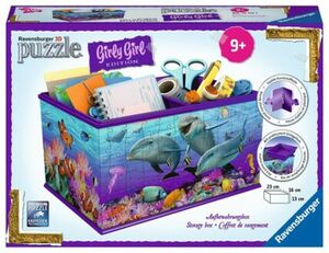 Ravensburger Puzzle - 3D Puzzles Girly Girl Edition Box Unterwasser Girls, 216 Teile