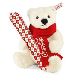 Steiff Coca-Cola Eisbär Alpaka, weiß, limitiert, 21 cm