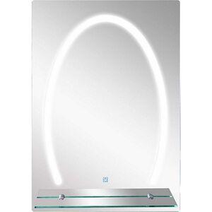 kleankin LED Badspiegel mit Glas-Ablage silber 50 x 4 x 70 cm (LxBxH)   Badezimmerspiegel Schminkspiegel Kosmetikspiegel