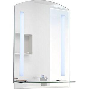 HOMCOM LED Wandspiegel silber 70 x 50 x 4 cm (LxBxH)   Badspiegel LED Lichtspiegel Badezimmerspiegel