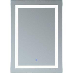 HOMCOM LED Lichtspiegel silber 50 x 70 x 4 cm (BxLxH)   Spiegel Badspiegel Wandspiegel Badezimmerspiegel
