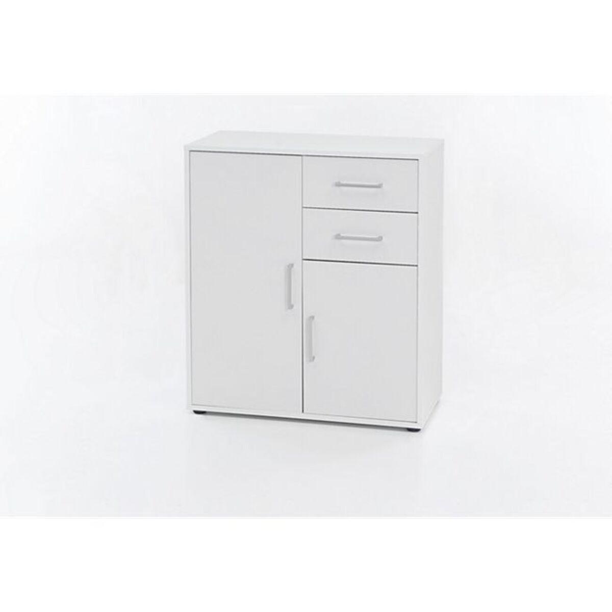 Bild 1 von Kommode mit 2 Türen und 2 Schubladen, Ausf. Melamin Weiß Dekor