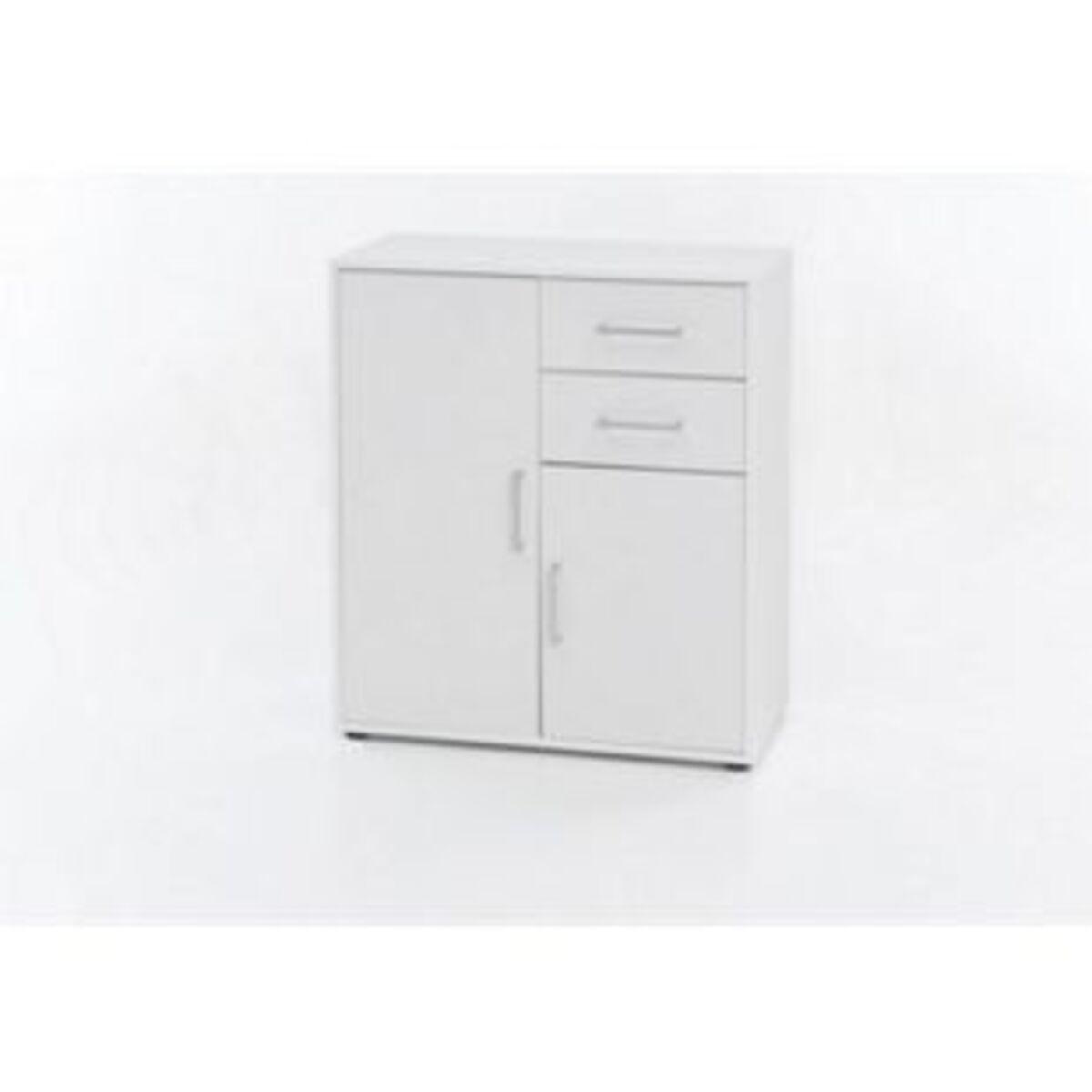 Bild 2 von Kommode mit 2 Türen und 2 Schubladen, Ausf. Melamin Weiß Dekor
