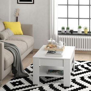 Vicco Couchtisch mit Schublade Beistelltisch Kaffeetisch 110 x 65 cm Weiß