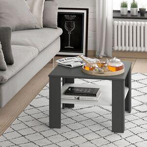 VICCO Couchtisch HOMER Anthrazit Weiß 60x60 cm  Wohnzimmer Sofatisch Kaffeetisch