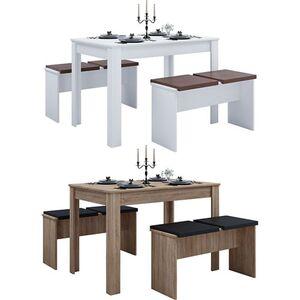 """VCM - my home Tischgruppe Sitzgruppe Essgruppe Holztisch Esstisch Tisch """"Esal XL"""""""