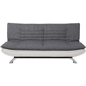 PKline Schlafsofa  weiß grau Schlafcouch Funktionssofa Gäste Bett Couch