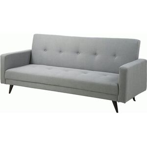 PKline Schlafsofa in hellgrau 3-Sitzer Sofa Couch Schlafcouch