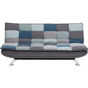PKline Schlafsofa FANNY patchworkfarben Schlafcouch Funktionssofa Gäste Bett Couch