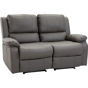 HOMCOM Doppelsofa mit Liegefunktion grau 141,5 x 95 x 94,5 cm (BxTxH)   Relaxsofa Fernsehsofa Fernsehcouch TV-Sofa