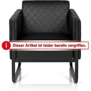 hjh OFFICE Lounge Sofa ARUBA BLACK mit Armlehnen