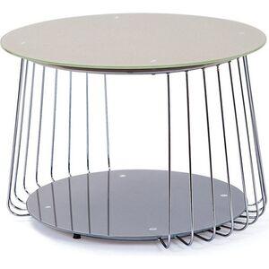 Couchtisch Rimos cappuccino chrom Sofa Wohnzimmer Tisch Ablage Beistelltisch