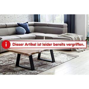Wohnling Couchtisch GAYA Massivholz Akazie Baumstamm Wohnzimmertisch 115 x 40 x 60 cm Beistelltisch Landhaus