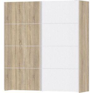Kleiderschrank Veto 2 Türen Schrank Drehtürenschrank Eiche Struktur Dekor weiss