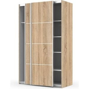 Kleiderschrank Veto 2 Türen Drehtürenschrank Schlafzimmer Schrank Eiche Struktur Dekor