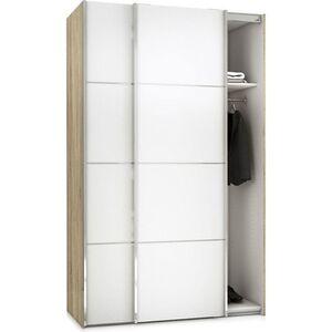 Kleiderschrank Veto 2 trg Schlafzimmer Schrank Drehtürenschrank Weiß Eiche Dekor