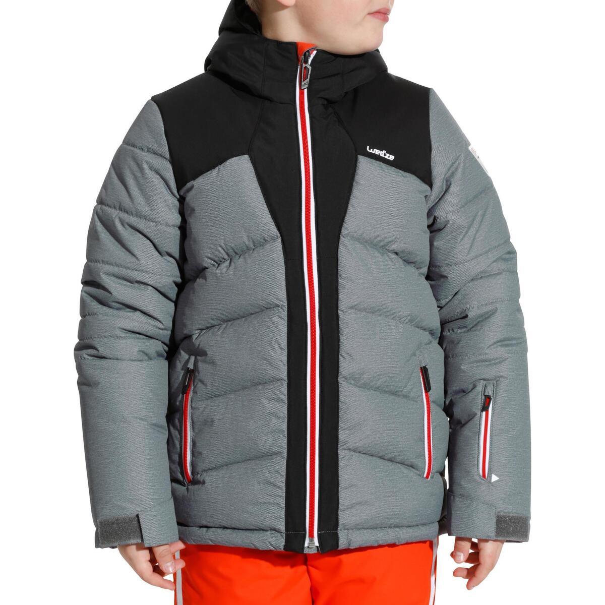 Bild 2 von Skijacke Warm 500 Kinder grau/schwarz