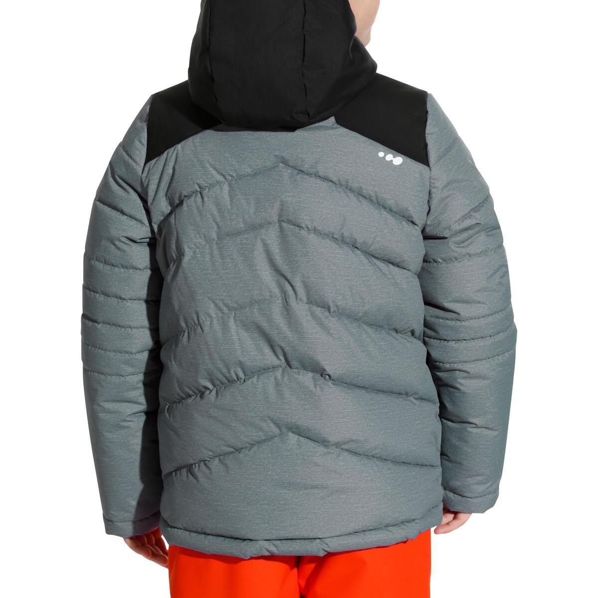 Bild 3 von Skijacke Warm 500 Kinder grau/schwarz