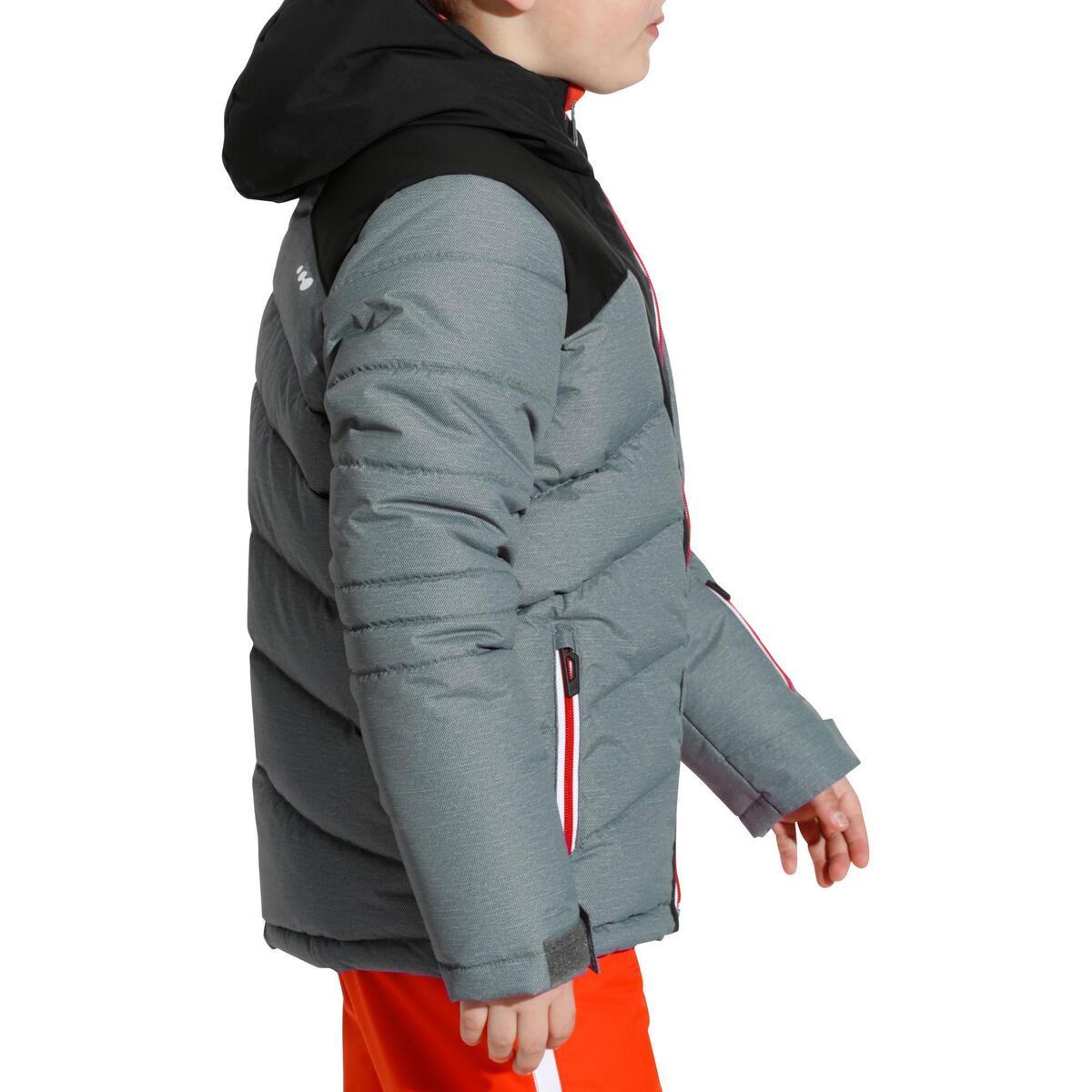 Bild 4 von Skijacke Warm 500 Kinder grau/schwarz