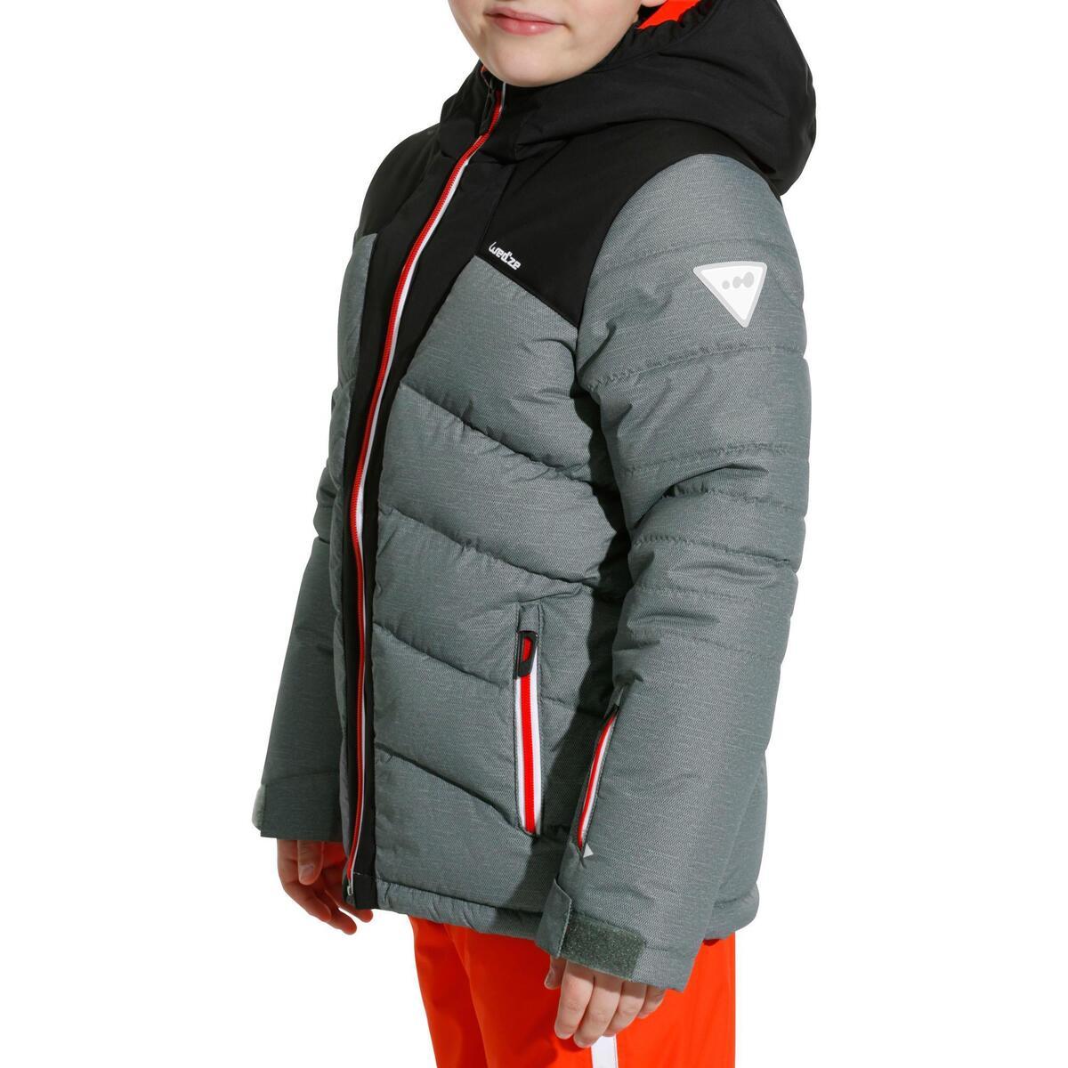 Bild 5 von Skijacke Warm 500 Kinder grau/schwarz