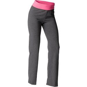 Yogahose sanftes Yoga aus Baumwolle aus biologischem Anbau Damen grau/rosa