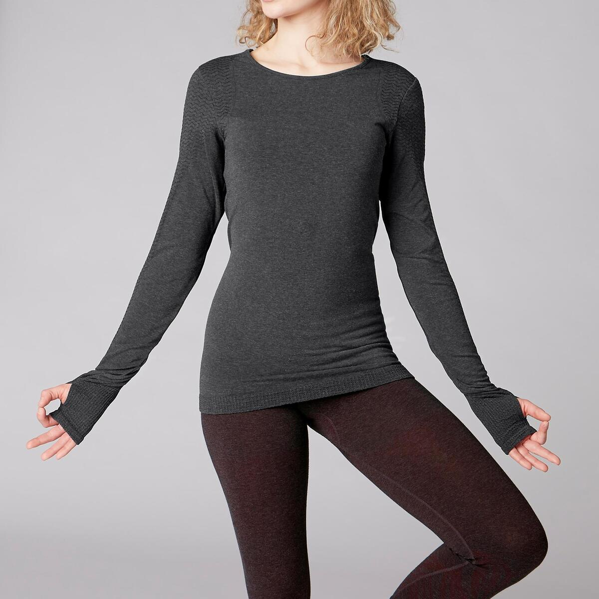 Bild 2 von Langarmshirt Yoga Damen dunkelgrau